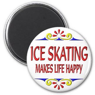 Ice Skating Makes Life Happy Magnet
