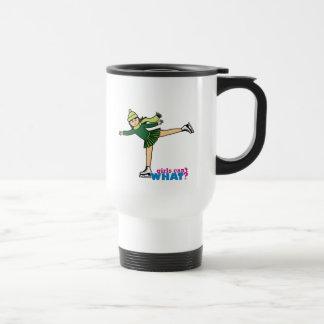 Ice Skating - Medium Stainless Steel Travel Mug