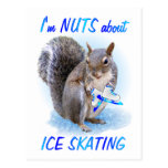 Ice Skating Nut Post Cards