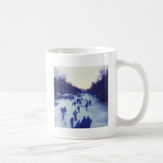 Ice skating on the canal mug