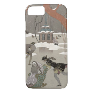 Ice Skating on the Frozen Lake, illustration for iPhone 8/7 Case