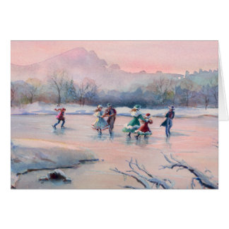 ICE SKATING PARTY by SHARON SHARPE Greeting Card