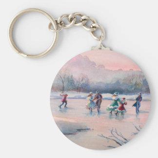 ICE SKATING PARTY by SHARON SHARPE Key Chains