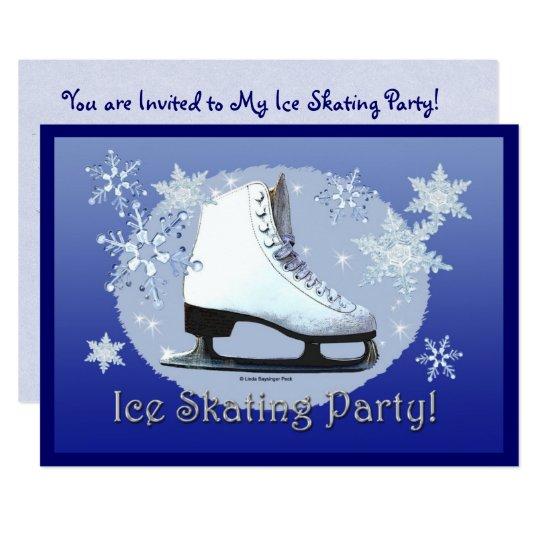 Ice Skating Party! Card