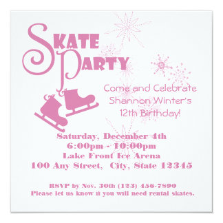 Ice Skating Party Card