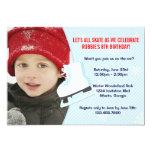 "Ice Skating Party Photo Invite 5"" X 7"" Invitation Card"