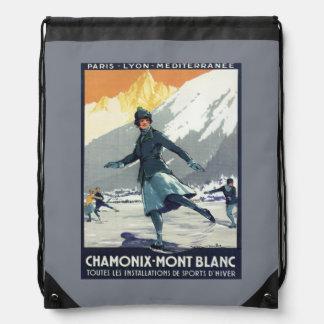 Ice Skating - PLM Olympic Promo Poster Drawstring Bag