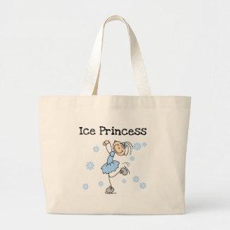 ICE SKATING PRINCESS LARGE TOTE BAG