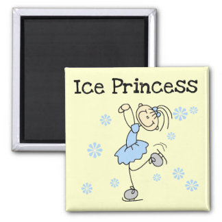 Ice Skating Princess Tshirts and Gifts Square Magnet