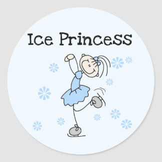 Ice Skating Princess Tshirts and Gifts Classic Round Sticker