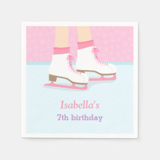 Ice Skating Rink Girls Birthday Party Supplies Paper Napkins