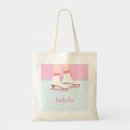Ice Skating Rink Girls Personalised Tote Bag