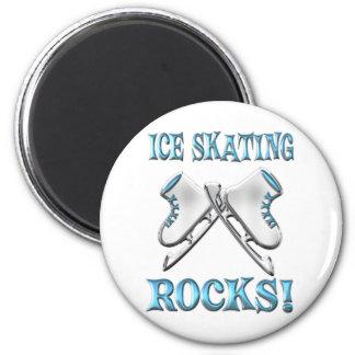 Ice Skating Rocks 6 Cm Round Magnet