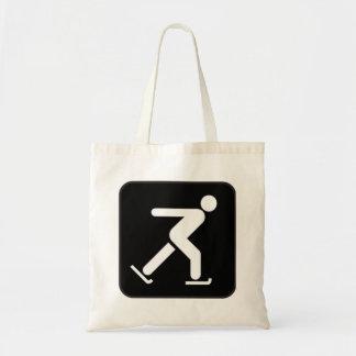 Ice Skating Sign Canvas Bag