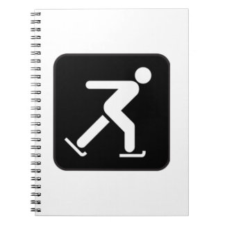 Ice Skating Sign Notebooks