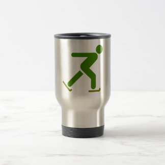 Ice Skating Silhouette Travel Mug