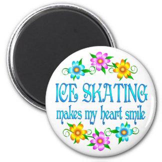 Ice Skating Smiles 6 Cm Round Magnet