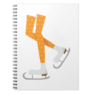 Ice Skating Spiral Note Books