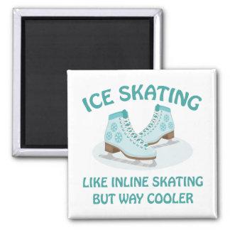 Ice Skating Square Magnet