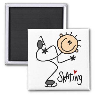 Ice Skating Stick Figure Magnet