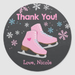 Ice Skating Stickers / Ice skating favour tags