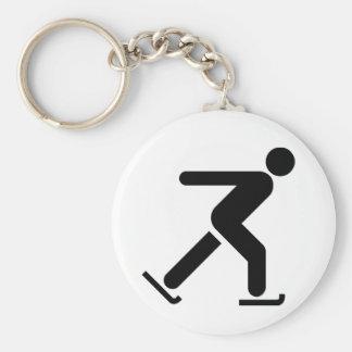 Ice Skating Symbol Keychain