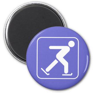 Ice Skating Symbol Magnet