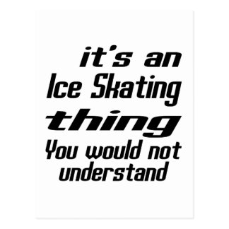 Ice Skating Thing Designs Postcard