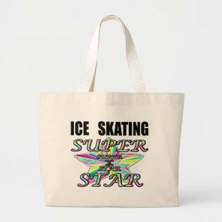 ice skating jumbo tote bag