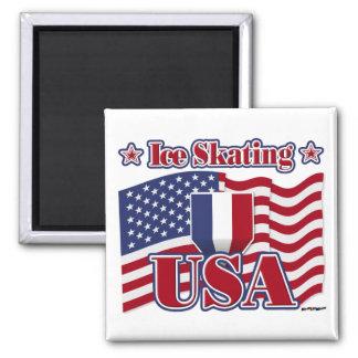 Ice Skating USA Magnets
