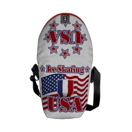 Ice Skating USA Messenger Bag