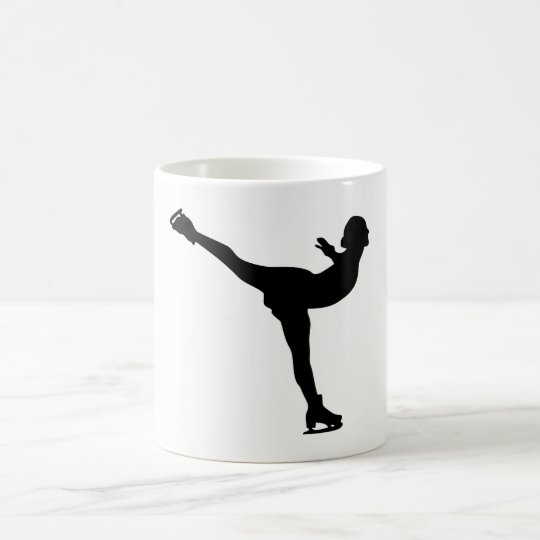 Ice Skating Woman Silhouette Coffee Mug