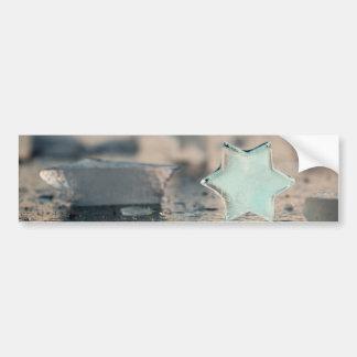 Ice star bumper sticker