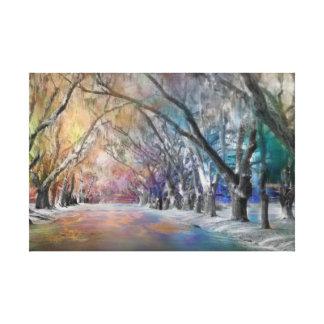 Ice Storm in Georgia Canvas print Single