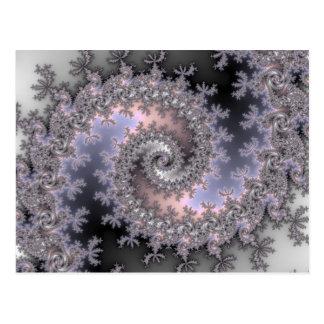Ice Swirl - Fractal Postcard