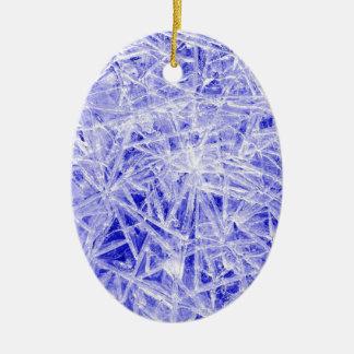 Ice texture ceramic oval decoration
