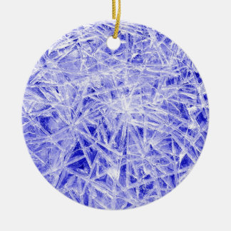 Ice texture christmas ornament