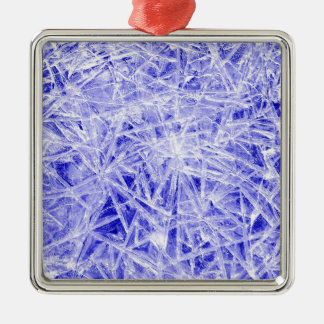 Ice texture christmas ornament