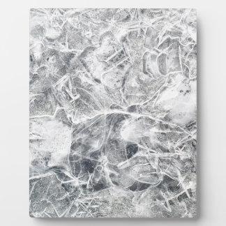 Ice texture plaque