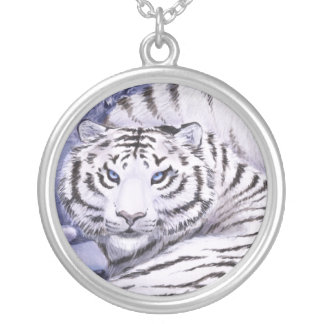 Ice Tigers Silver Plated Necklace
