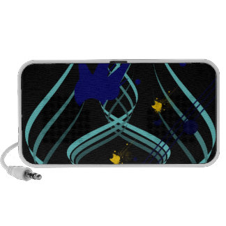 Ice Vectors on Pitch Black Doodle iPod Speakers