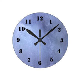Ice wall round clock