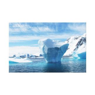 Iceberg Antarctica beautiful nature scenery Gallery Wrap Canvas