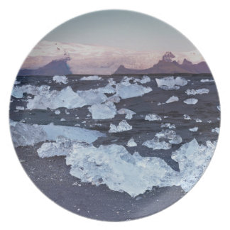 Iceberg formation on the beach plate
