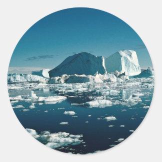 Iceberg, Greenland Winter Classic Round Sticker