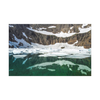 Iceberg lake in the Glacier national park, Montana Canvas Print
