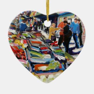 iceberg lettuce moore street dublin ceramic heart decoration