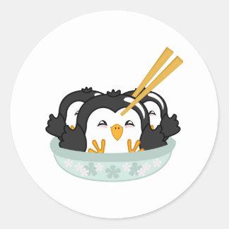Iceberg Penguin Dumplings Round Sticker