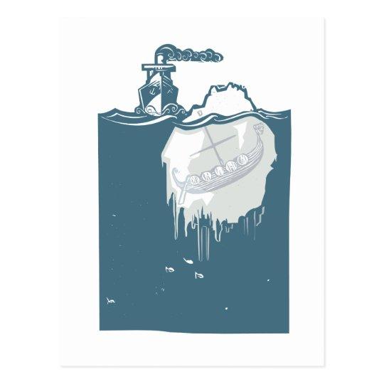 Iceberg Viking Postcard