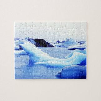 Icebergs at Jokulsarlon Lagoon Jigsaw Puzzle